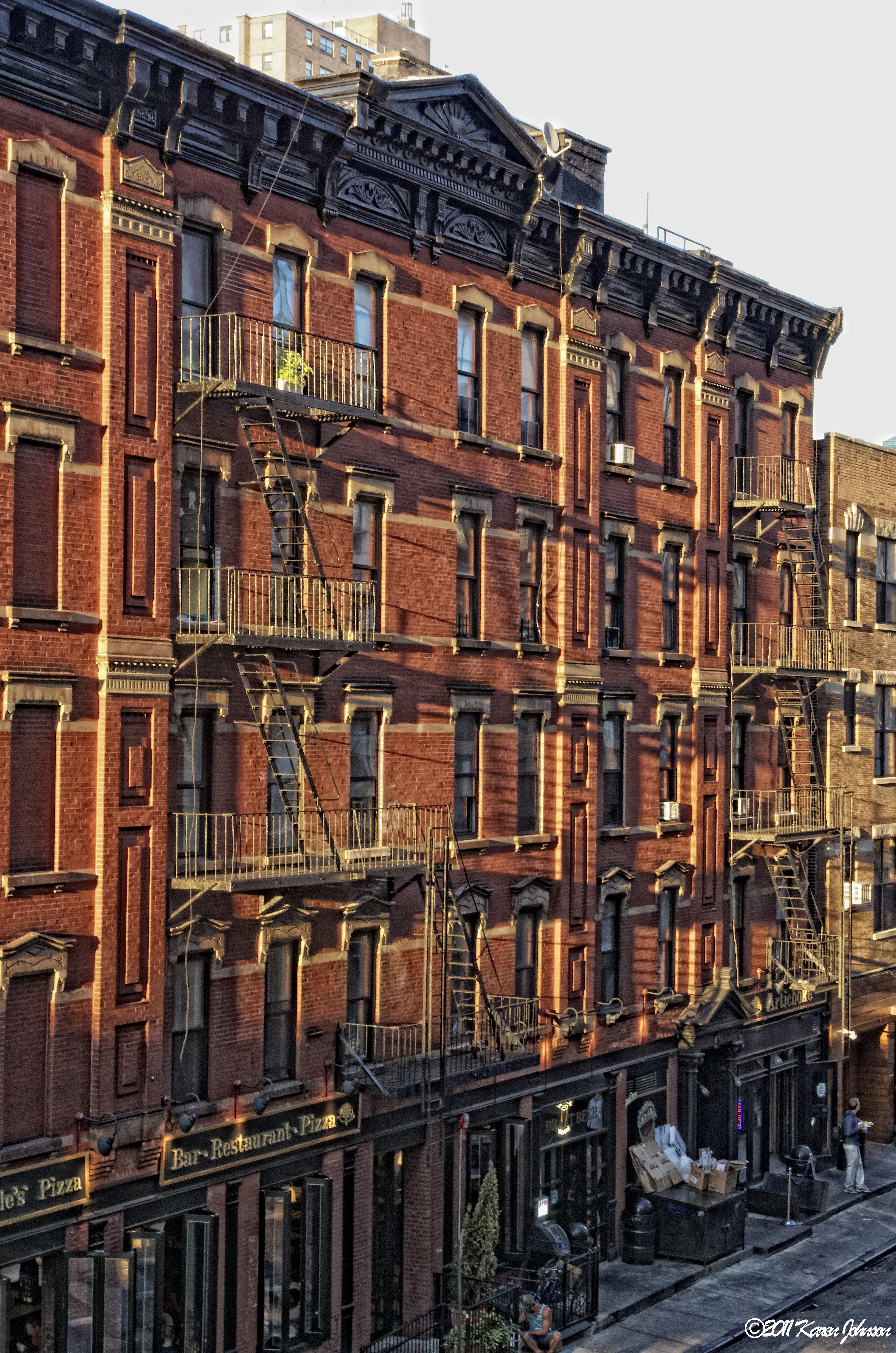 New york high line karen johnson a photographic life for Brick house construction