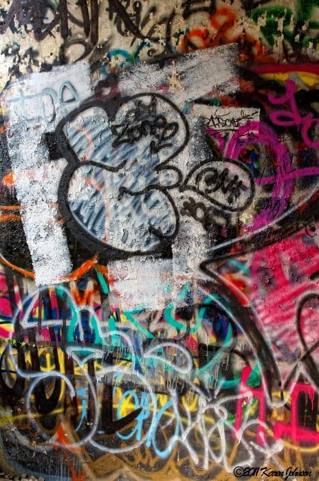 Black White & Pink Graffiti Wall