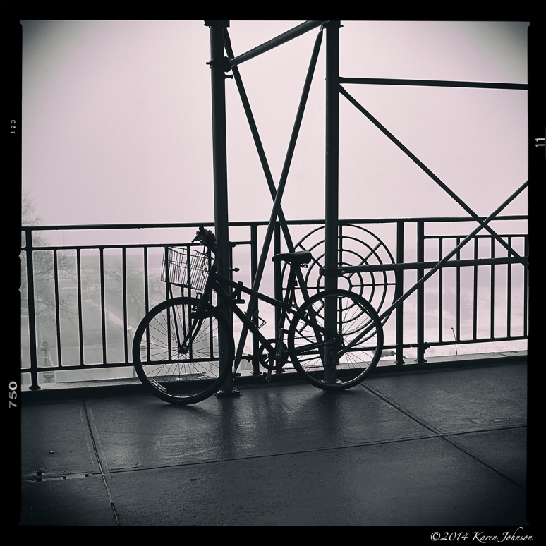 NYC Fog Bicycle 1